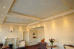 Lobby ceiling at Connells Funeral Home Longford