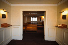 Chapel Doors at Connells Funeral Home Longford